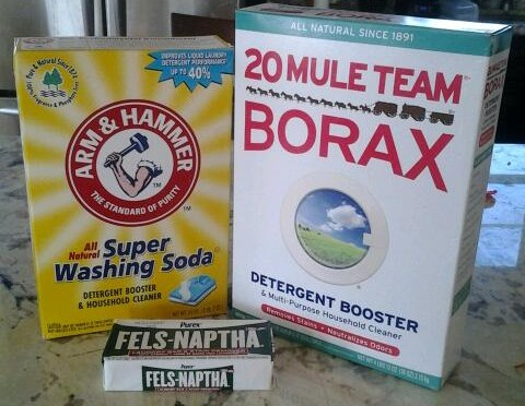 Making your own liquid laundry detergent.